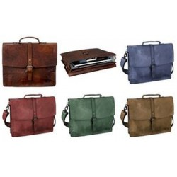 "PRIDE&SOUL Porte-document ""JAYDEN"", cuir, marron"