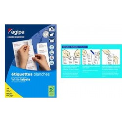 agipa Étiquettes multi-usage, 52,5 x 29,7 mm, POSE EXPRESS