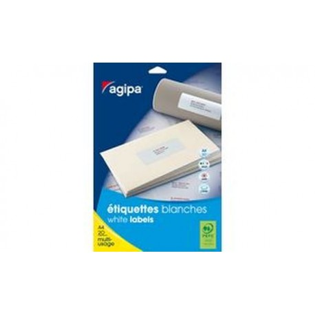 agipa Étiquettes multi-usage, 50 x 25 mm, blanches