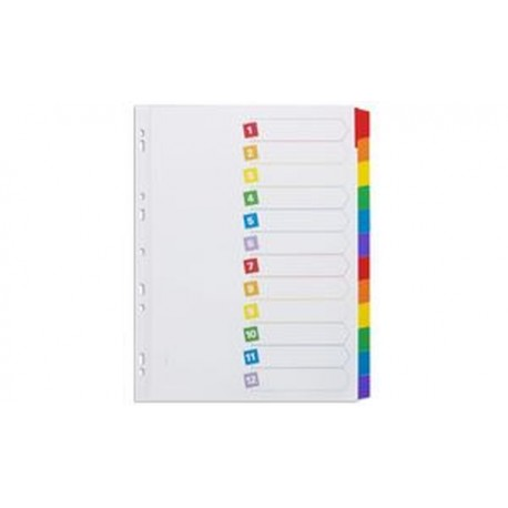 AVERY Intercalaires Mylar, carte, 12 touches neutres, A4
