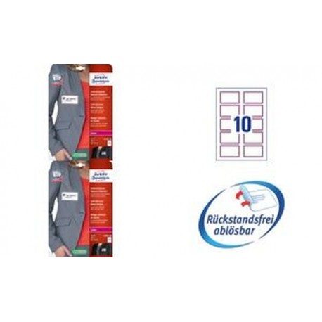 AVERY Zweckform Étiquettes badges, 80 x 50 mm, cadres rouge