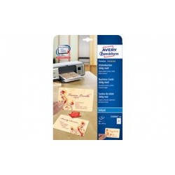 AVERY Zweckform cartes de visite Quick & Clean, blanc, mat