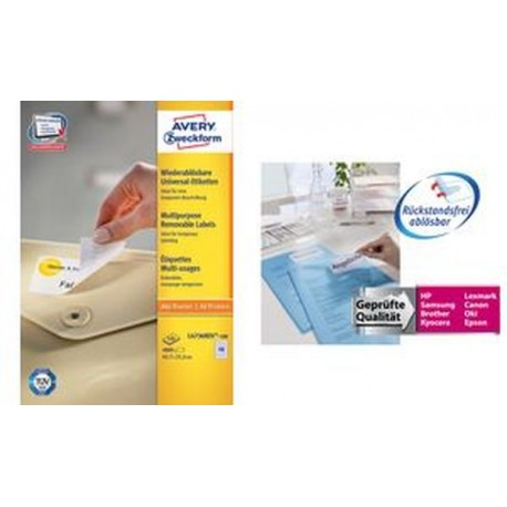 AVERY Zweckform Étiquettes universelles, 99,1 x 42,3 mm,