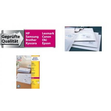 AVERY/Zweckform QuickPEEL Étiquettes laser, 99,1 x 38,1mm,