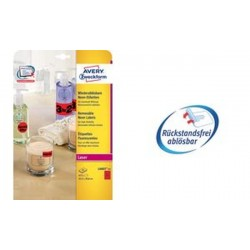 AVERY Zweckform Étiquettes fluorescentes, ronde: 63,5 mm,