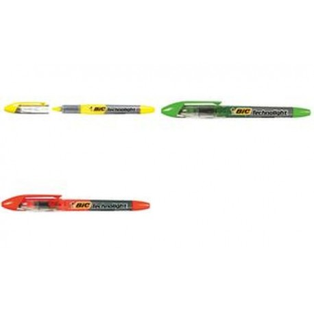 BIC Surligneur Technolight, vert, technologie Liquid Ink