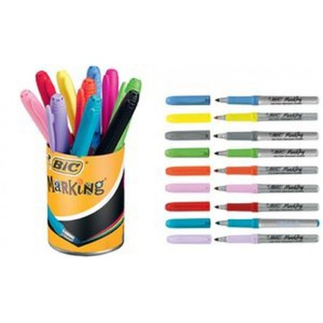 BIC Marqueur permanent Marking Color, dans un pot de 10