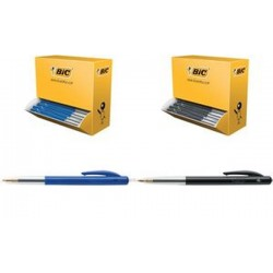 BIC Stylo à bille rétractable M10 clic, bleu, VALUE PACK