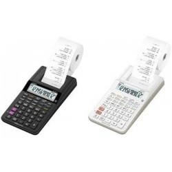 CASIO Calculatrice imprimante modèle HR-8 RCE-BK, noir