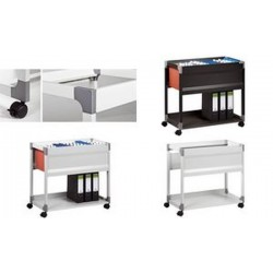 DURABLE chariot pr dossiers suspendus SYSTEM File Trolley,