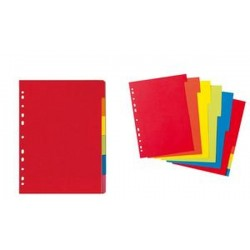 herlitz Intercalaire en carton, uni, A4, coloré, 6 positions