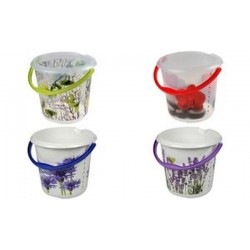 """keeeper seau deco ilvie """"spring leaves"""", rond, 10 litres,"""