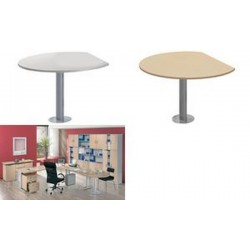 kerkmann Table d'appoint tec-art, rond, gris clair