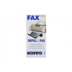 Kores Rouleau thermotransfert pour brother Fax 1010, noir