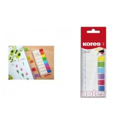 Kores Marque pages - film, 12 x 45 mm, 8 x 15 feuilles
