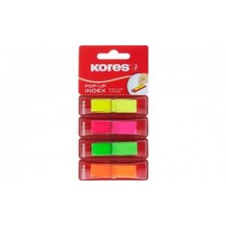 Kores notes adhésives marque-pages POP-UP, 45 x 12 mm,