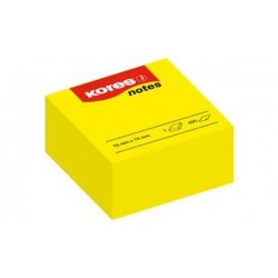 "Kores Bloc de notes repositionnables""notes"", 75 x 75 mm, uni"