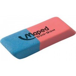 Maped Gomme en caoutchouc Duo-Gom, medium, bleu/rouge