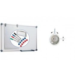 MAUL Tableau mural blanc 2000 ,kit complet,(L)900 x(H)600 mm