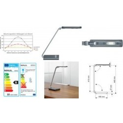 MAUL Lampe de bureau LED MAULpure, variable, argent