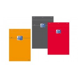 Oxford bloc-notes, A5, quadrillé, 80 feuilles, rouge