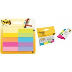 Post-it marque-pages en papier, 20 x 38 mm, couleurs ultra