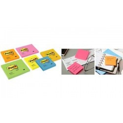 Post-it bloc-notes adhésives, 76 x 76 mm, vert néon
