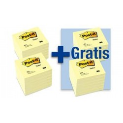 3M Post-it Notes adhésives, 76 x 76 mm, jaune, 12 + 12