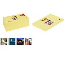 3M Post-it notes Super Sticky Notes, 127 x 76 mm, jaune