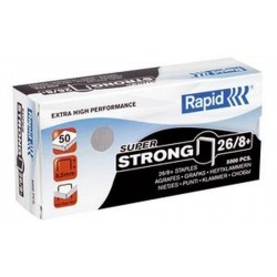 Rapid agrafes Super Strong 26/8+, galvanisé
