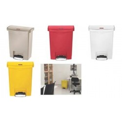 Rubbermaid Collecteur à pédale Slim Jim, 30 litres, rouge