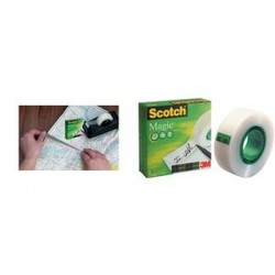 3M Scotch Ruban adhésif Magic 810, invisible, 12 mm x 33 m,