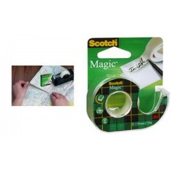 3M Scotch Magic ruban adhésif 810, invisible, 19 mm x 30 m
