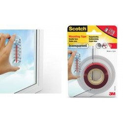 3M Scotch ruban adhésif de montage double face, 19 mm x 1,5m