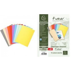 EXACOMPTA Chemises FOREVER 180, A4, couleurs assorties