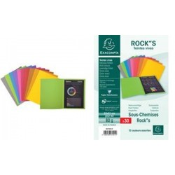 EXACOMPTA Sous-chemises ROCK'S, 220 x 310 mm, assortie