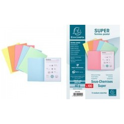 EXACOMPTA Sous-chemises SUPER 60, A4, 60 g/m2, assorti