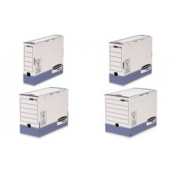 Fellowes BANKERS BOX SYSTEM caisse d'archivage, bleu,
