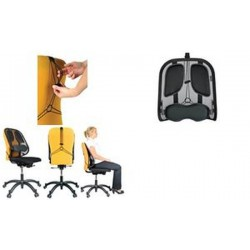 Fellowes support dorsal en maille Professionnel Series, noir