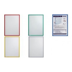 FRANKEN étui transparent FRAME IT X-tra!Line, A4, rouge