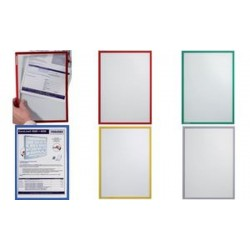 FRANKEN étui transparent FRAME IT X-tra!Line, A5, rouge