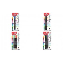 Maped Fineliner Graph'Peps, bleu, carte blister de 2