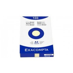 EXACOMPTA Fiches bristol, A5, uni, orange