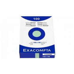EXACOMPTA Fiches bristol, A6, uni, orange