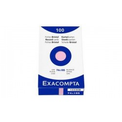 EXACOMPTA Fiches bristol, A7, uni, orange