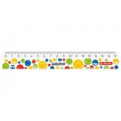 "herlitz Règle plate SmileyWorld ""Rainbow"", long de 170 mm"