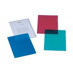 ELBA Pochettes-coin standard, A4, PP, 0,12 mm, rouge,