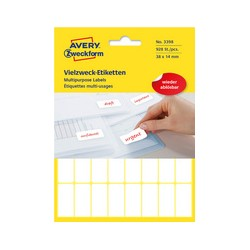 AVERY Zweckform Étiquettes multi-usages, 38 x 24 mm, blanches