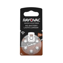 RAYOVAC pile bouton pour aides auditives, HA312/V312 (PR41)