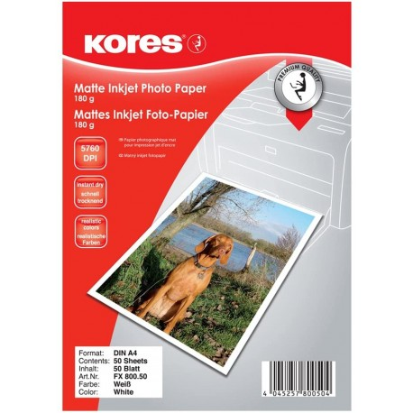 Kores Papier photo, format A4, 180 g/m2, mat
